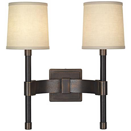 "Robert Abbey Binary 18"" High Double Wall Sconce"