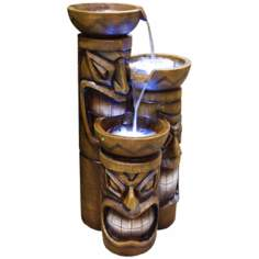 Three Tier LED Tiki Head Fountain