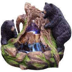 Rain Forest Bears LED Fountain