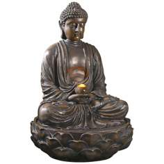 Sitting Buddha LED Fountain