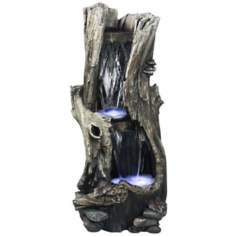 LED Rainforest Vertical Waterfall Outdoor Fountain