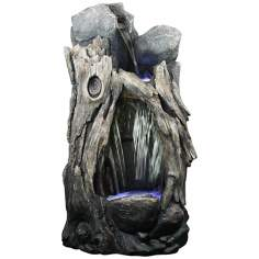 LED Rainforest Large Waterfall Outdoor Fountain