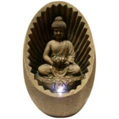Buddha Sunburst Tabletop LED Fountain