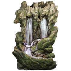 LED Double Fall Waterfall Outdoor Fountain