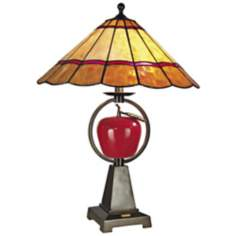 Dale Tiffany Temptaion Hand-Rolled Art Glass Table Lamp
