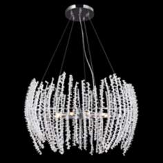 "James R. Moder 25"" Modern Crystal 9-Light Chandelier"
