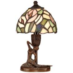 Dale Tiffany Lady Art Glass Accent Lamp