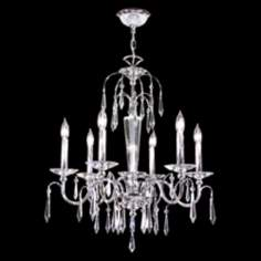 "James R. Moder Electra 26"" Wide 6 Light Crystal Chandelier"