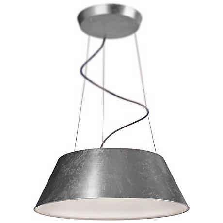 "Ledino Ceilo 23 1/2"" Wide Silver Leaf LED Pendant Light"
