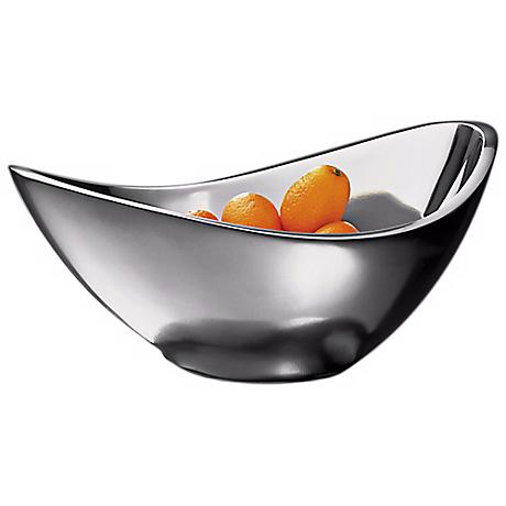 Nambe Butterfly 16 Ounce Silver Metal Serving Bowl