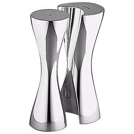 Nambe Hug Silver Salt and Pepper Shakers