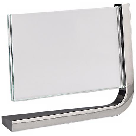 Nambe Movie Horizontal 4x6 Glass Metal Photo Frame
