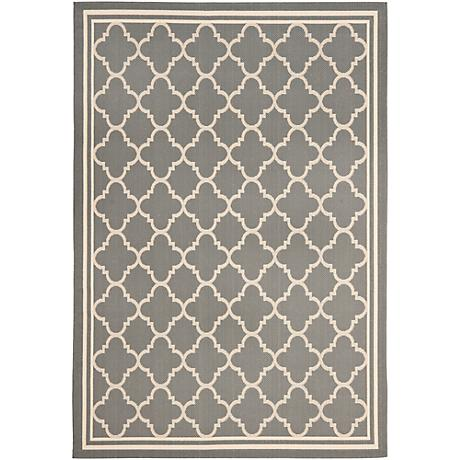 Courtyard Collection CY6918C Grey Area Rug