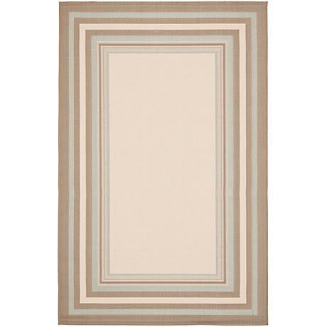 Courtyard Collection CY7896C Beige Area Rug