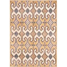 "Paradise Collection PAR152B 4'x5'7"" Gold Area Rug"