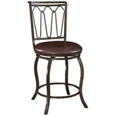 "Big and Tall Triple Cone 24"" Bronze Counter Stool"