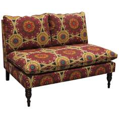 Tangine Solar Flair Henna Armless Chaise