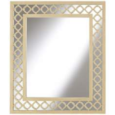"Lola Collection 33 1/2"" Openwork Wood Mirror"