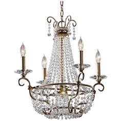 "Murray Feiss Dutchess 22 1/2""  Wide Silver Chandelier"