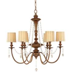 "Murray Feiss Clarissa 31 1/2"" Wide Firenze Gold Chandelier"