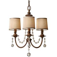 "Murray Feiss Clarissa 18 1/2"" Wide Firenze Gold Chandelier"