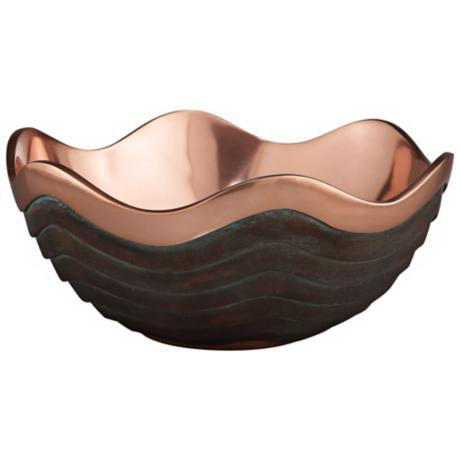 "Nambe Copper Canyon 13"" Wide Metal Bowl"