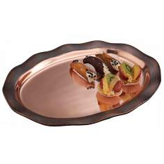 Nambe Copper Canyon Oval Serving Platter