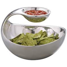 Nambe Scoop Server 2-Tier Bowl