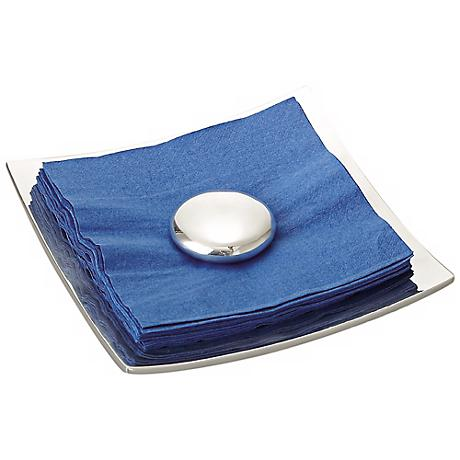 Nambe Metal and Stone Napkin Holder