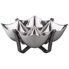 Nambe Anvil Quad Metal Alloy Condiment Bowl