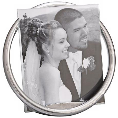 Nambe Forever 8x10 Metal and Glass Photo Frame