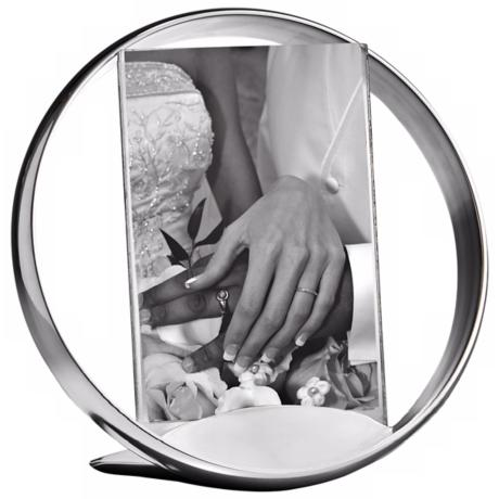 Nambe Forever 4x6 Metal and Glass Photo Frame