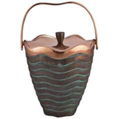 Nambe Copper Canyon Metal Ice Bucket