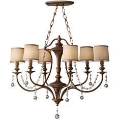 "Murray Feiss Clarissa  36"" Wide Firenze Gold Oval Chandelier"