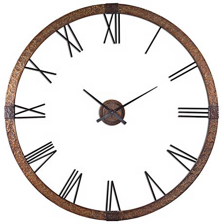 "Uttermost Amarion 60"" Wide Oversize Wall Clock"