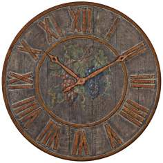"Uttermost Levante 32"" Wide Aged Wall Clock"