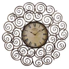 "Uttermost Sassetta 24"" Wide Metal Wall Clock"