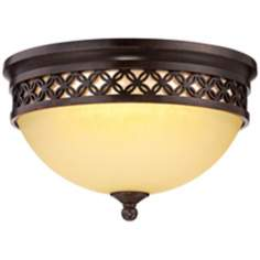 "Possini Euro Design 8 1/2"" Wide Bronze LED Ceiling Light"