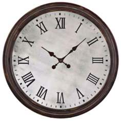 "Uttermost Marshall 28"" Wide Walnut Wall Clock"