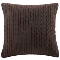 Woolrich Hadley Sweater Knit Plaid Accent Pillow