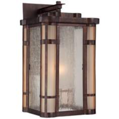 "Pendelton Falls 14 3/4"" High Bronze Outdoor Wall Light"