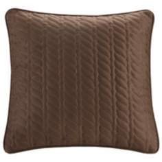 Woolrich Brownstone Quilted Faux Suede Throw Pillow