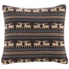 Woolrich Brownstone Knitted Chocolate Accent Pillow