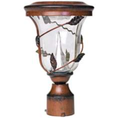 "Flora Antique Bronze 13"" High Solar LED Pole Light"