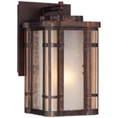 "Pendelton Falls  9"" High Bronze Outdoor Wall Light"