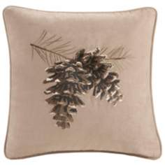 Woolrich Brownstone Pine Cone Accent Pillow