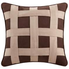 Woolrich Brownstone Pine Motif Accent Pillow