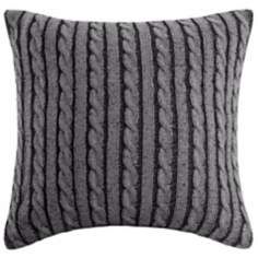 Woolrich Williamsport Sweater Knit Plaid Accent Pillow
