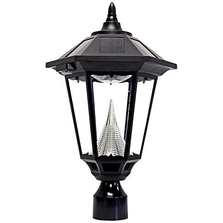 "Windsor Black 20"" High Solar LED Lantern Post Light"