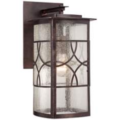 "Riverton Organic Scroll 14"" High Bronze Outdoor Wall Light"